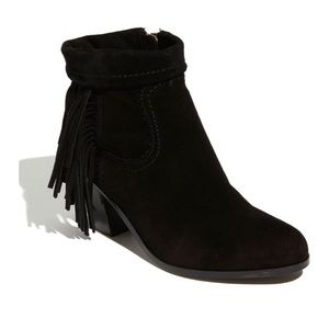NWT Sam Edelman Louis Black Short Fringe Boot
